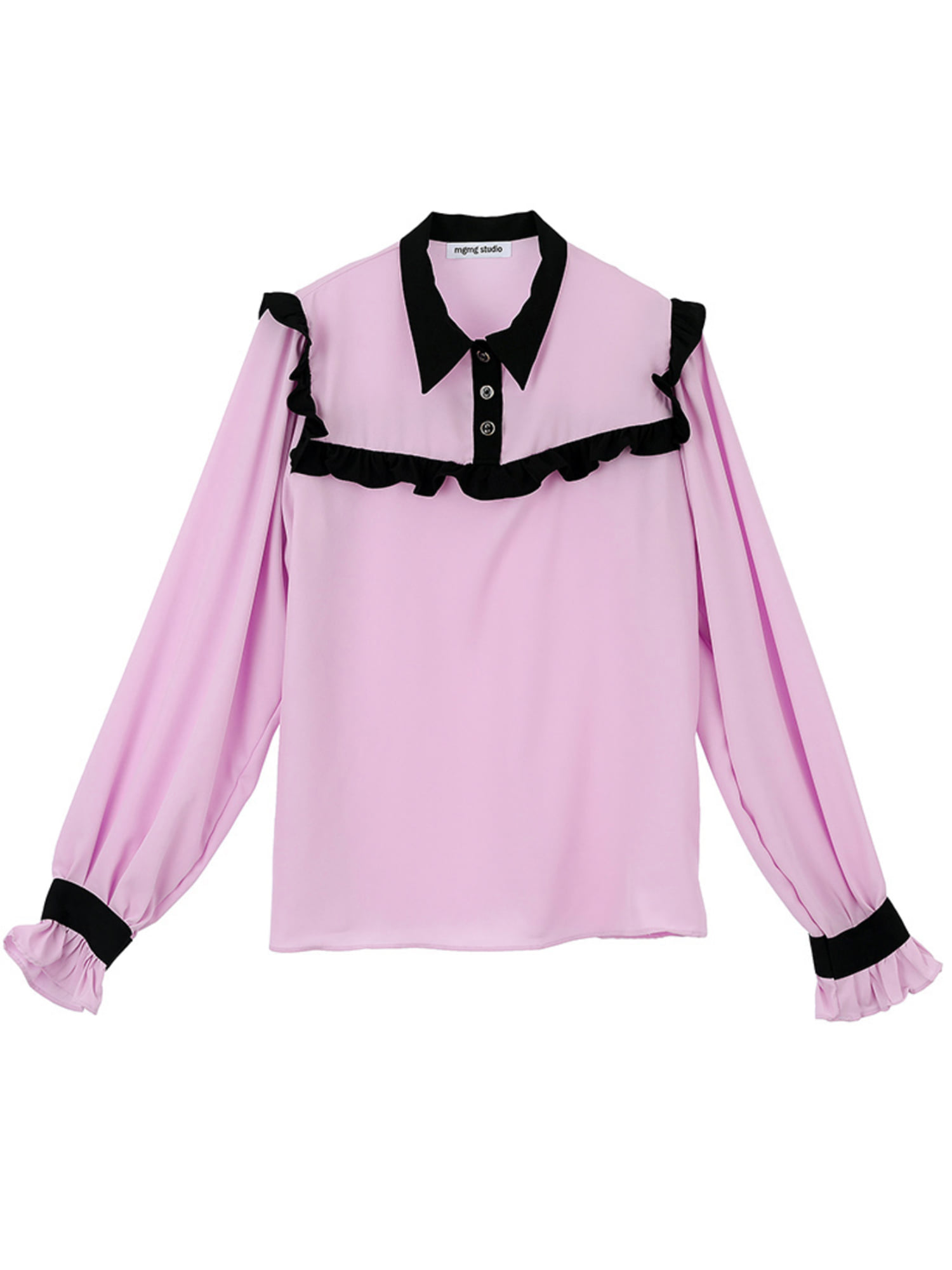 mgmg ruffle point blouse_pink