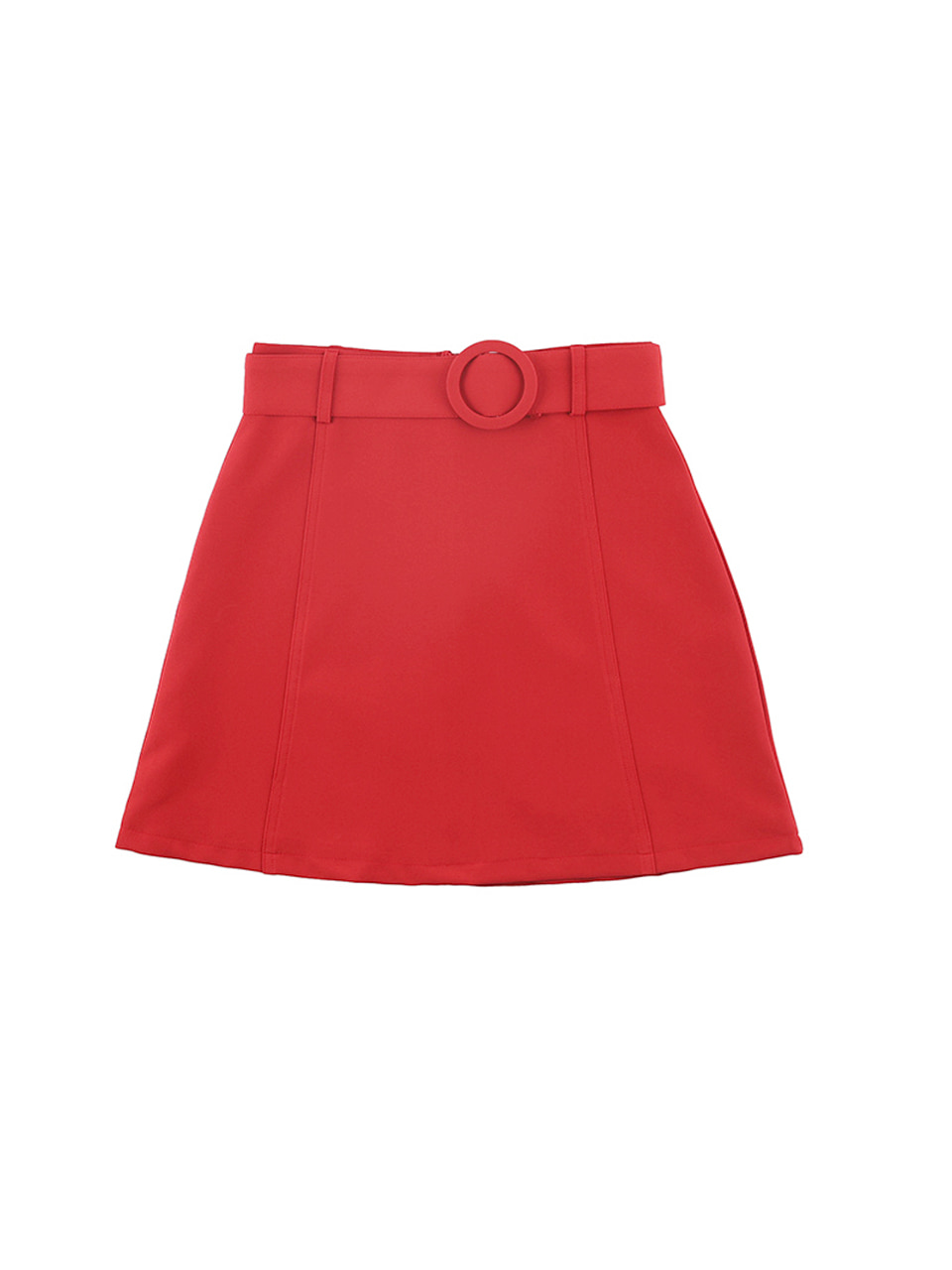 mgmg circle belt skirt_red