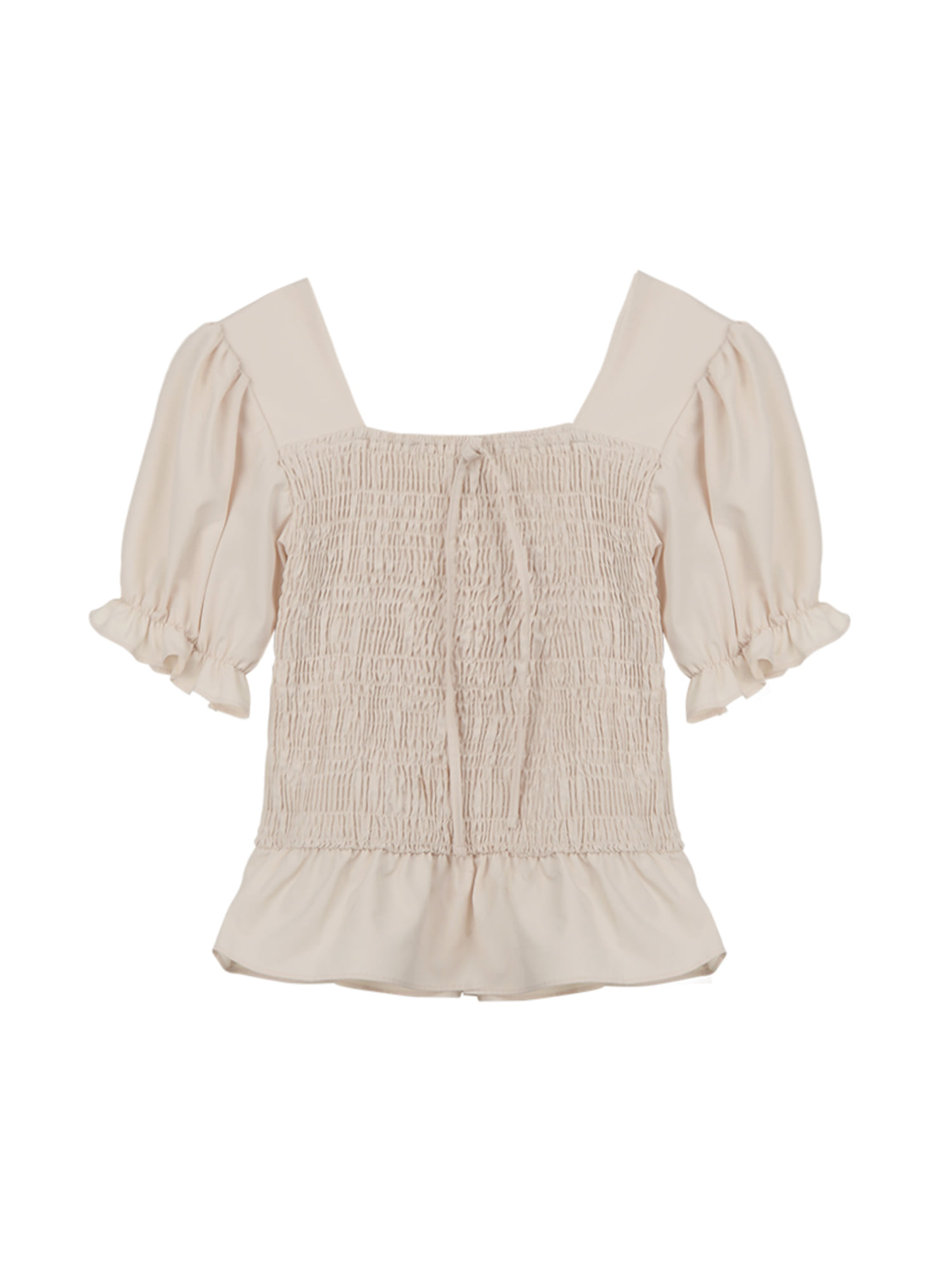 Smoke ribbon blouse_ivory