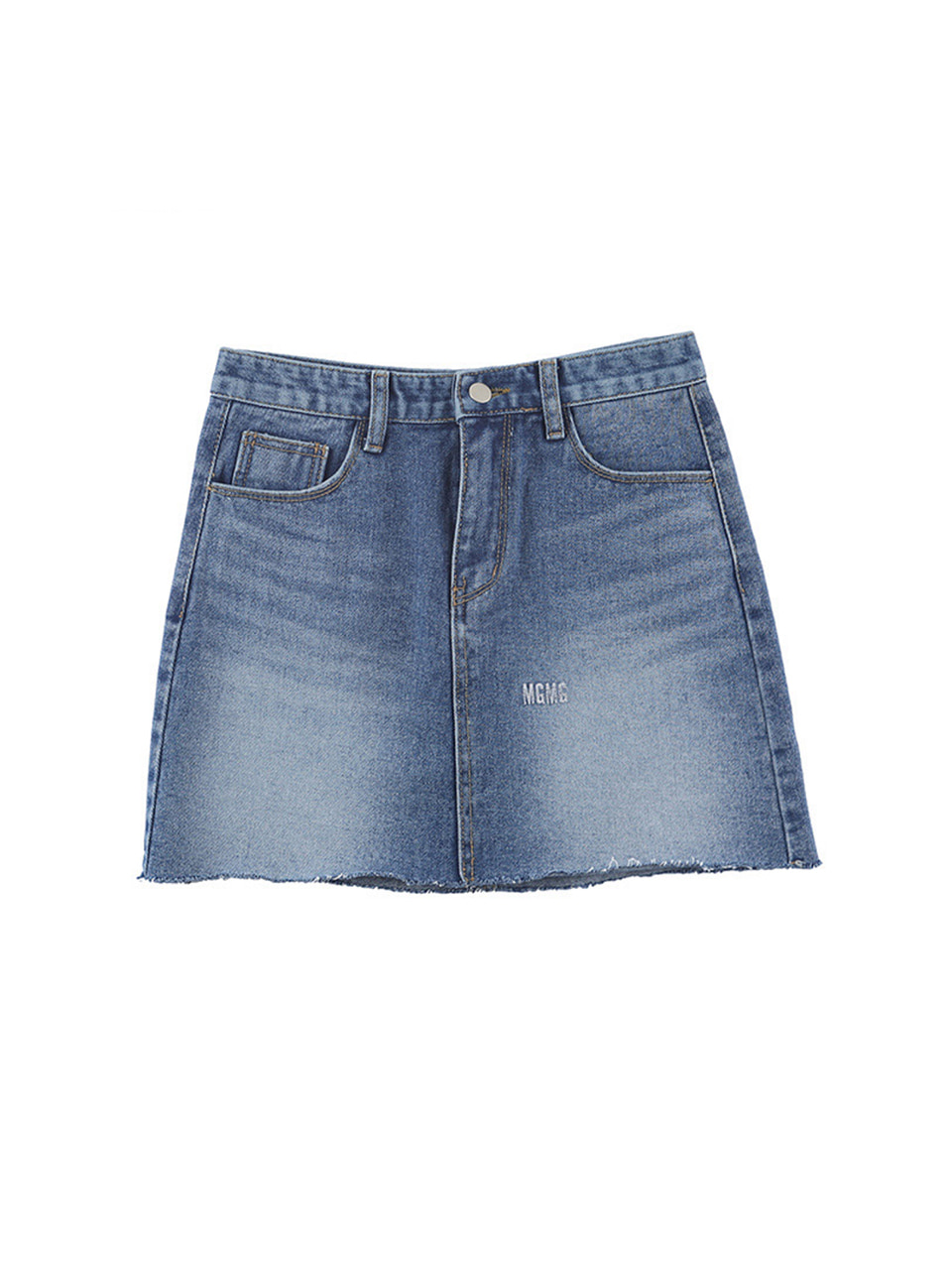 mgmg logo denim skirt