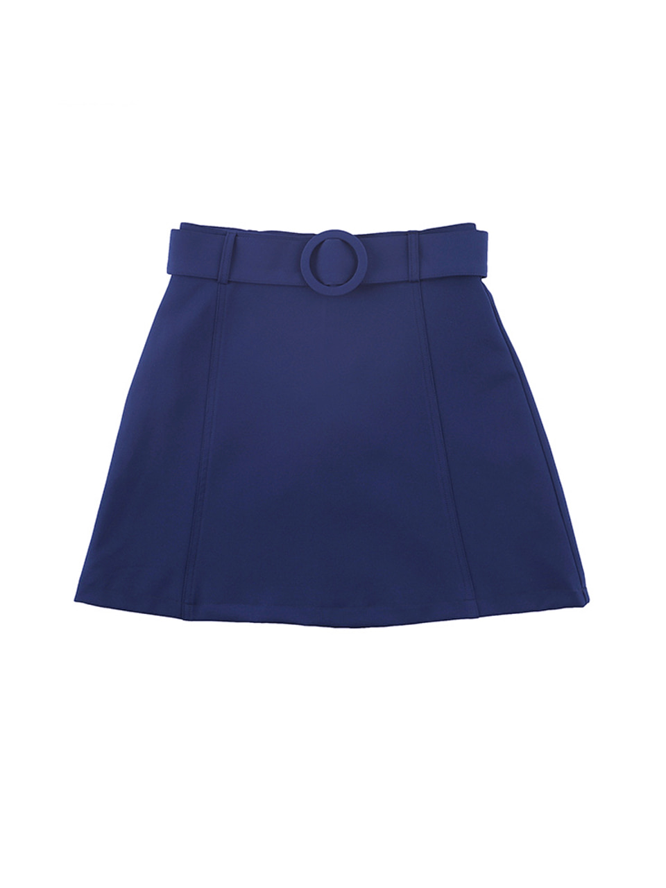 mgmg circle belt skirt_navy