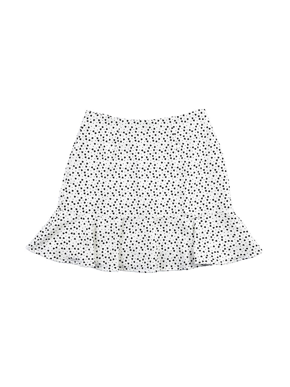 mgmg mini heart ruffle skirt_white