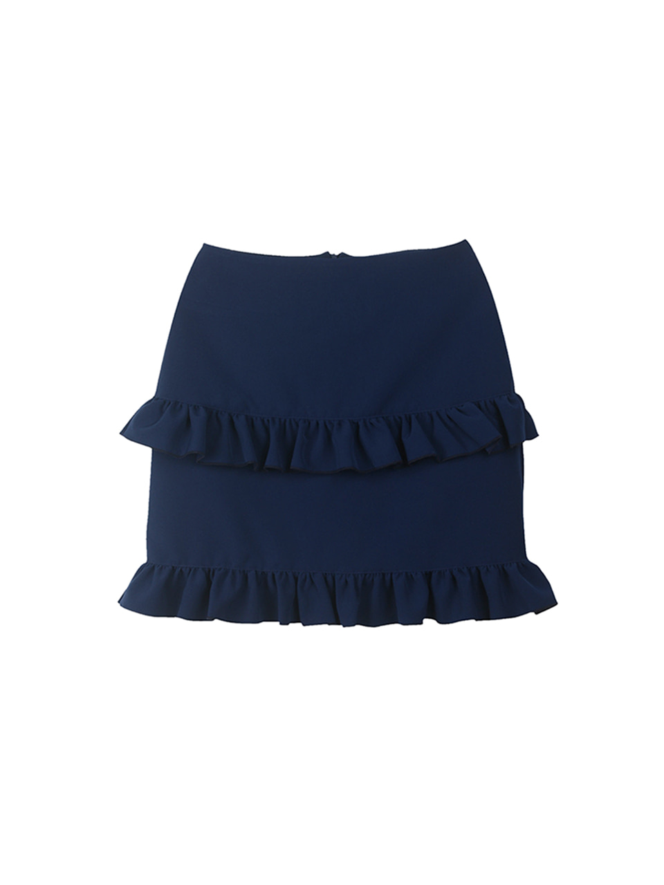 double frill skirt_navy