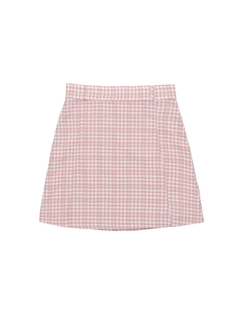 mgmg basic check skirt_pink