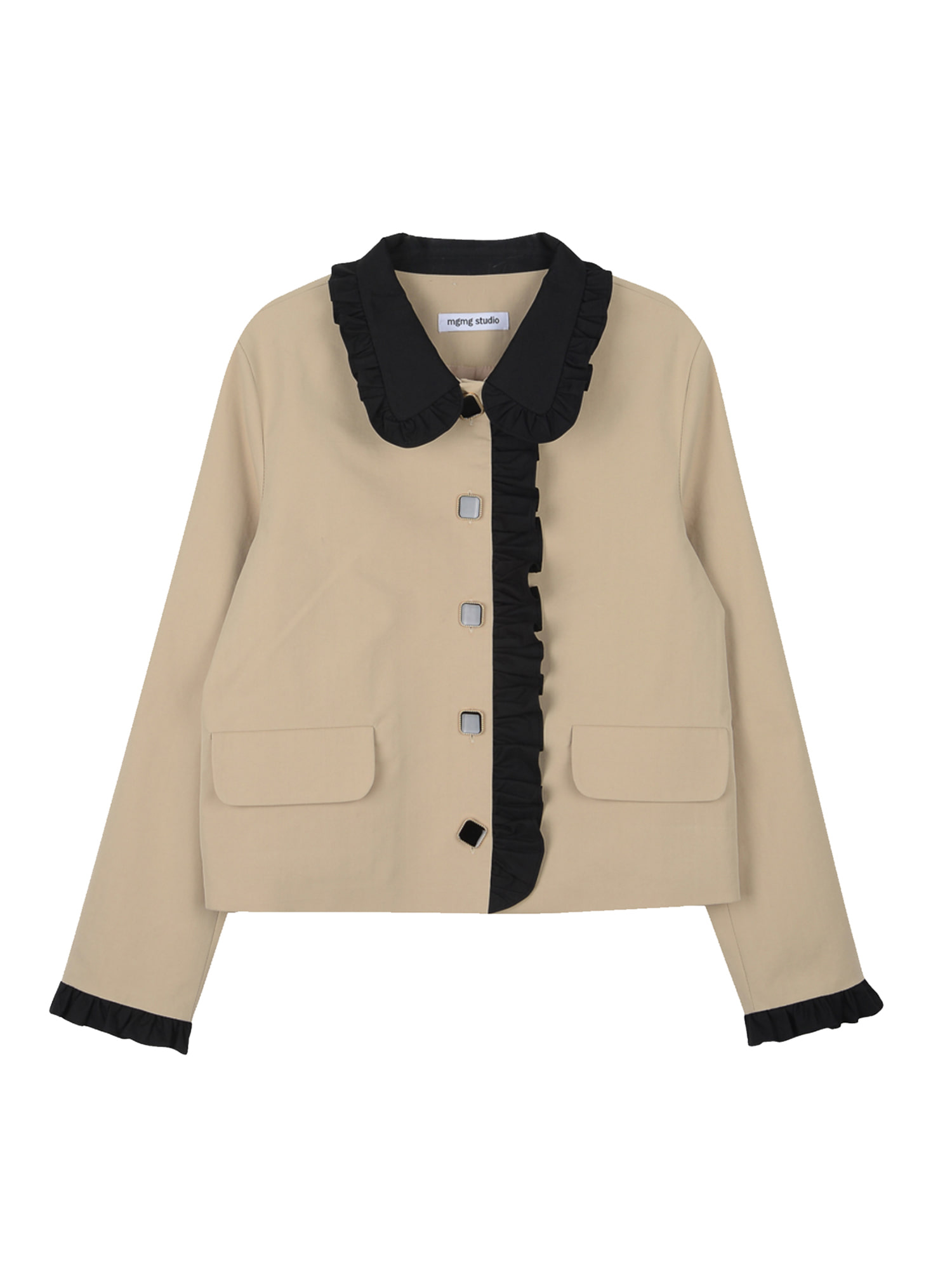 Frill trench jacket_beige