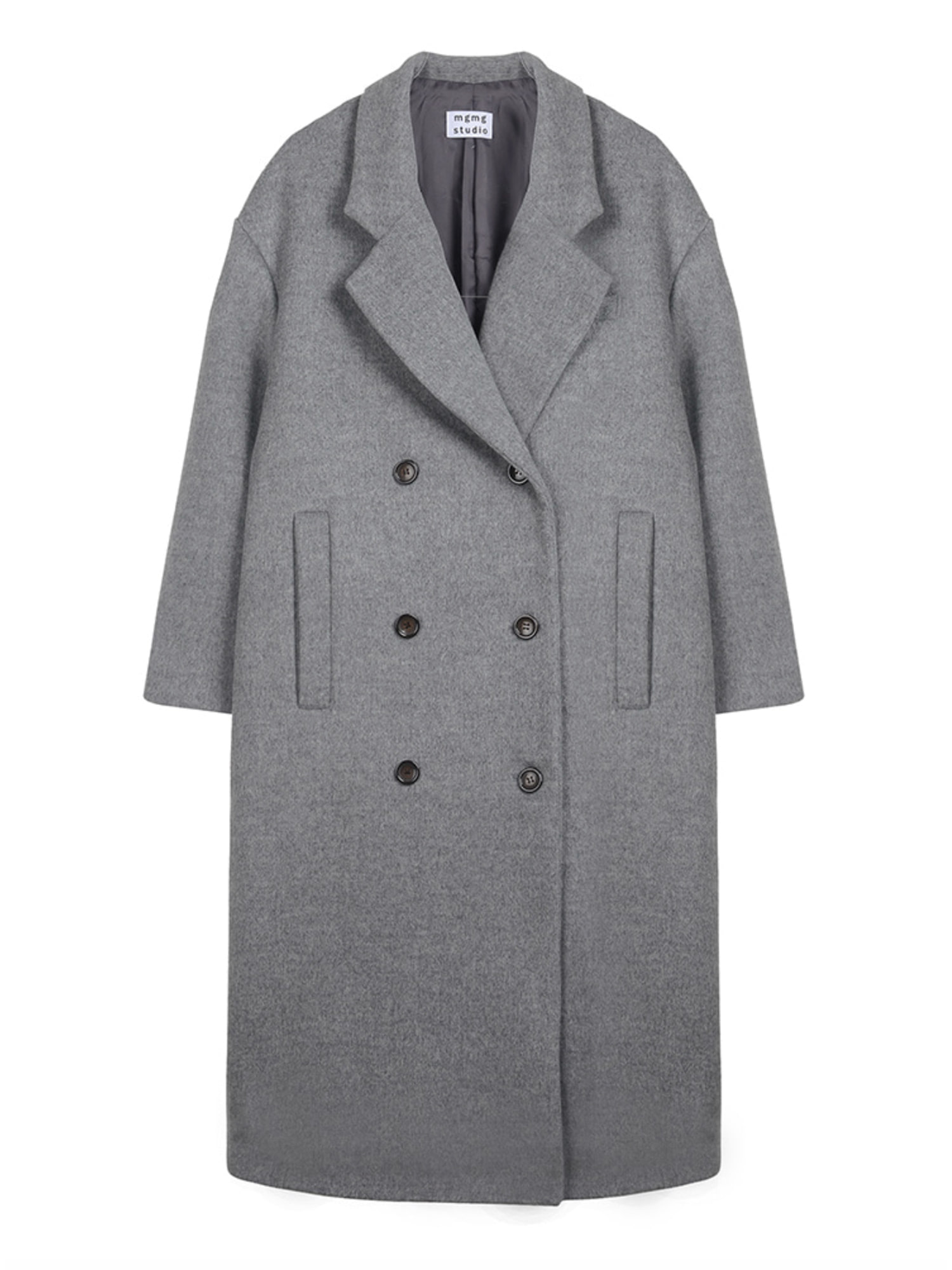 mgmg boxy double coat_grey