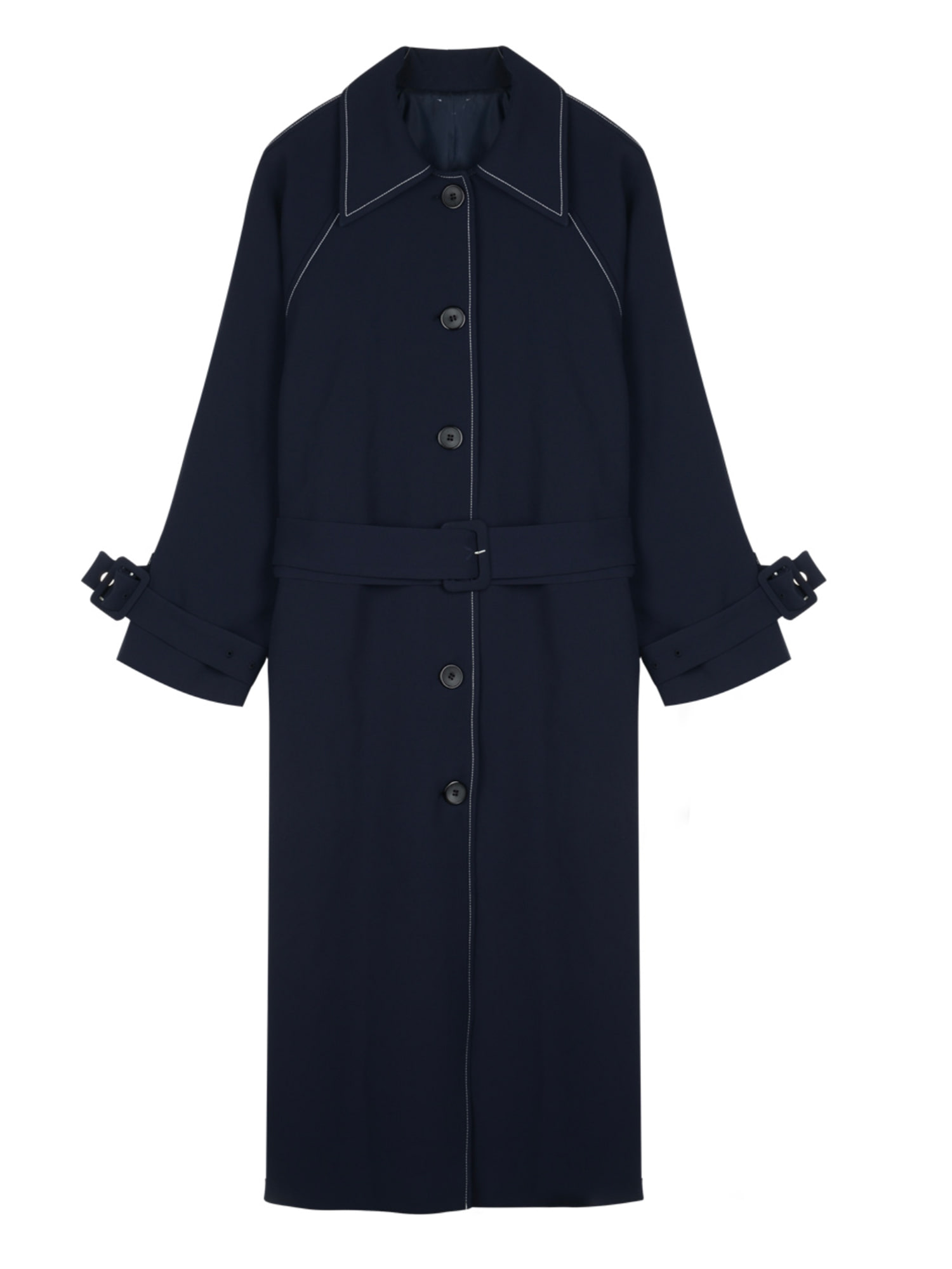 Stitch trench coat_navy