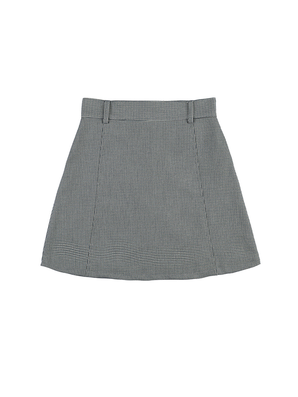 mgmg houndtooth check skirt_olive