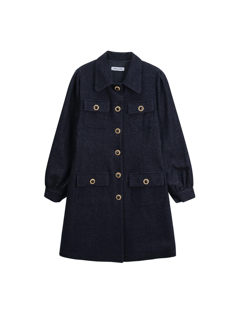 check button one-piece_navy