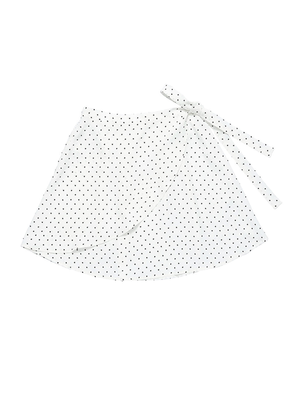 mgmg heart pattern wrap skirt_white