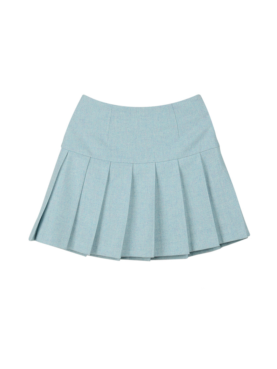 melange skirt_mint