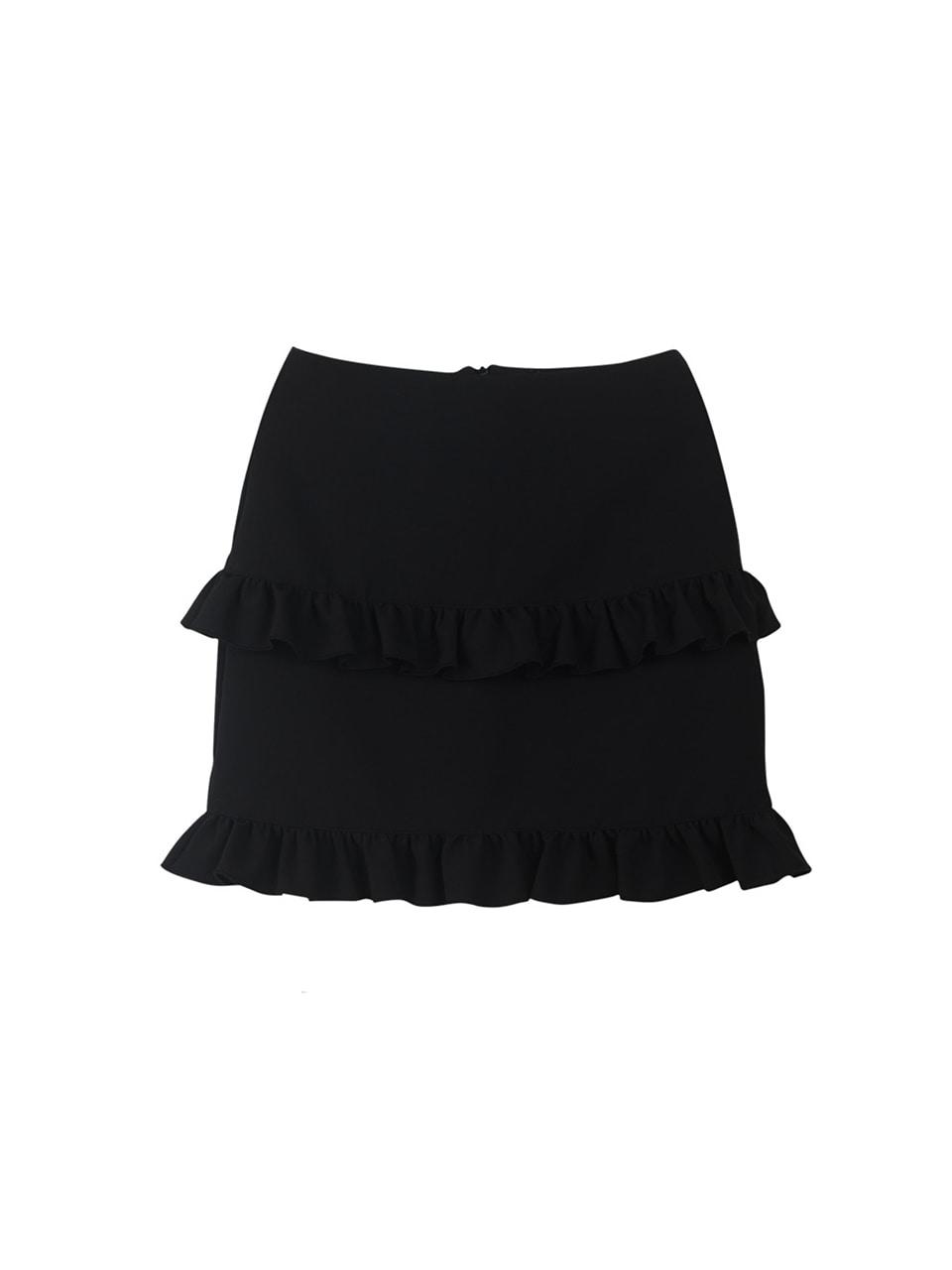 double frill skirt_black