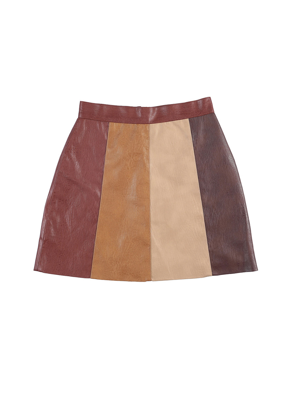 mgmg artificial leather skirt_brown