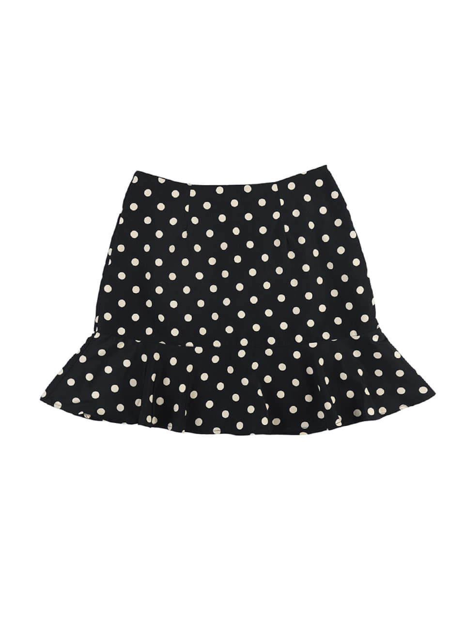 mgmg dot ruffle skirt_black