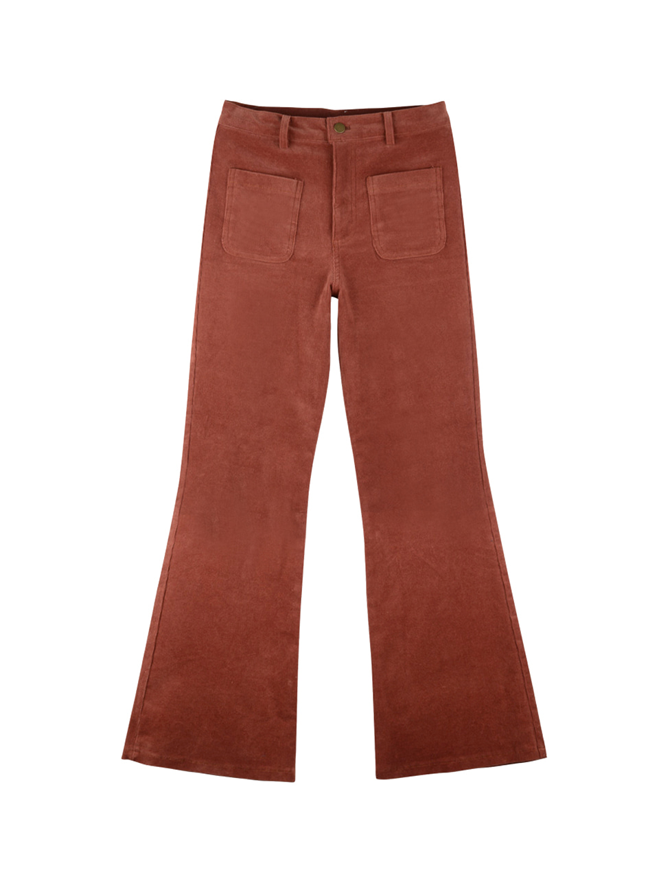 Corduroy pocket pants_pink brown
