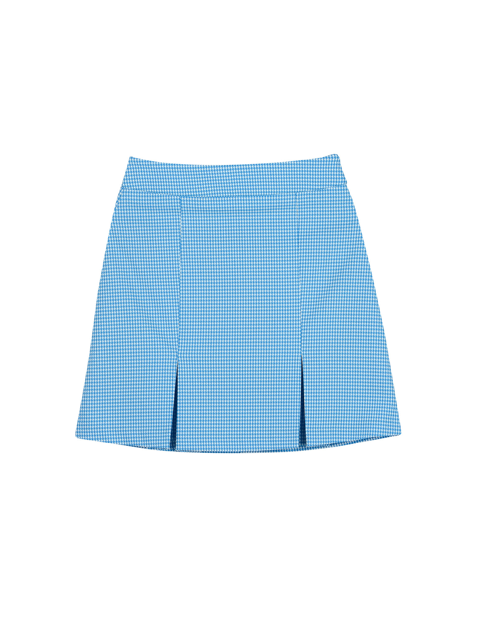 Summer houndtooth skirt_sky