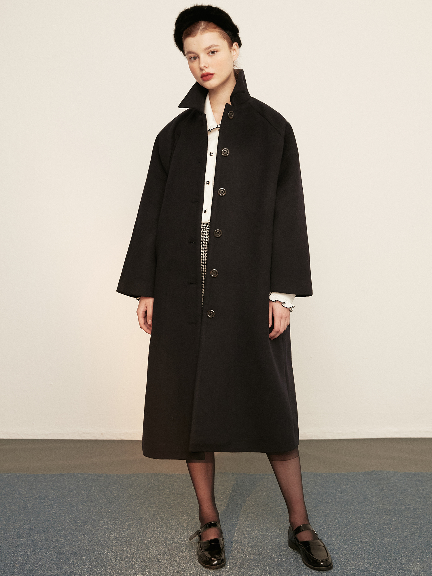 classic wool coat_navy