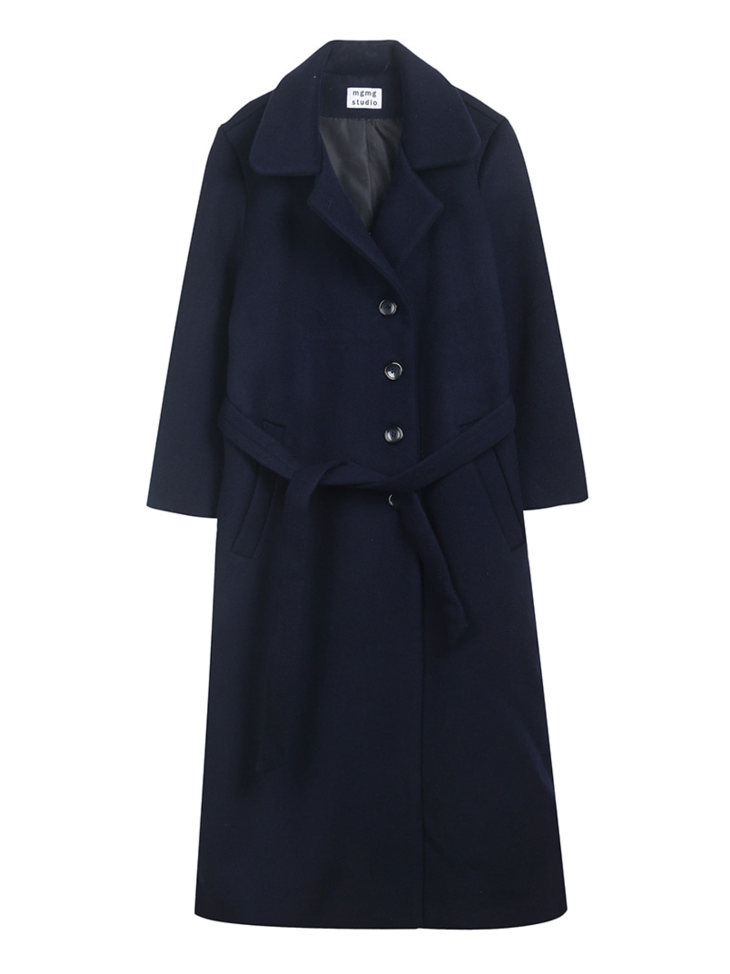 mgmg button long coat_navy