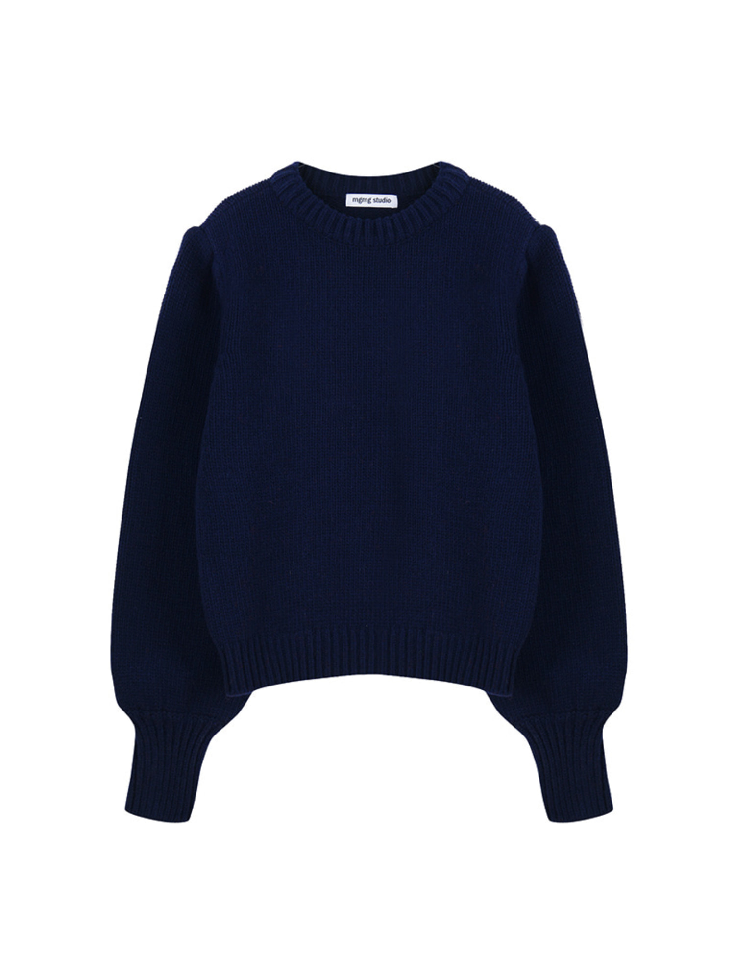 mgmg shirring knit_navy