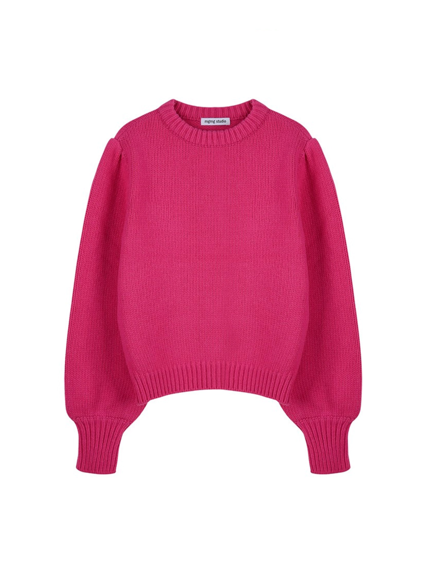 mgmg shirring knit_hot pink