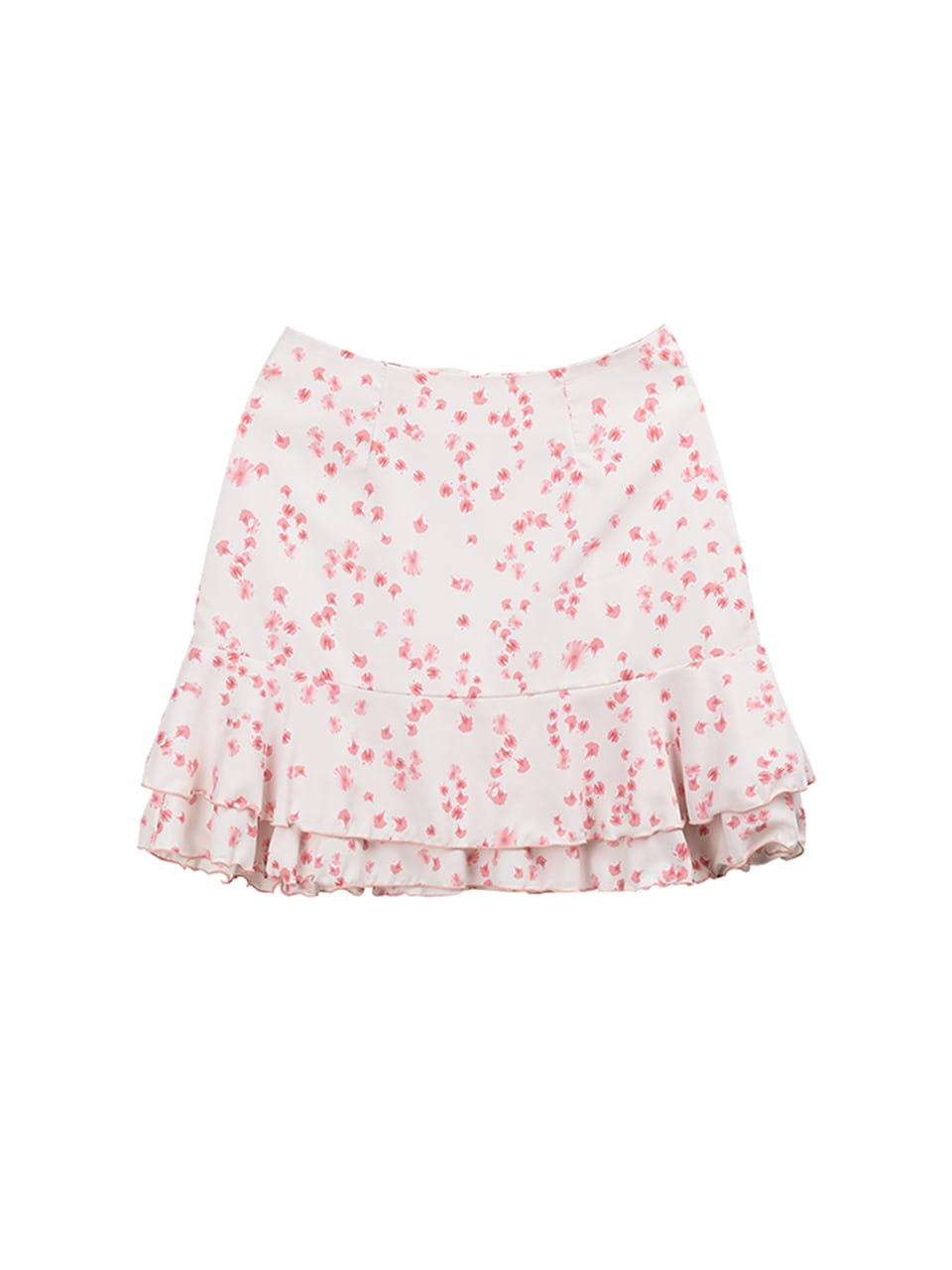 petal ruffle skirt_white