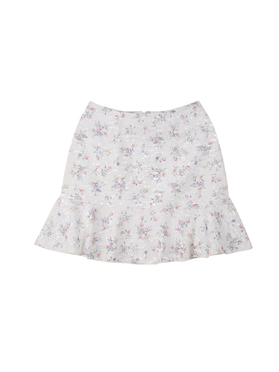 flower frill skirt_white