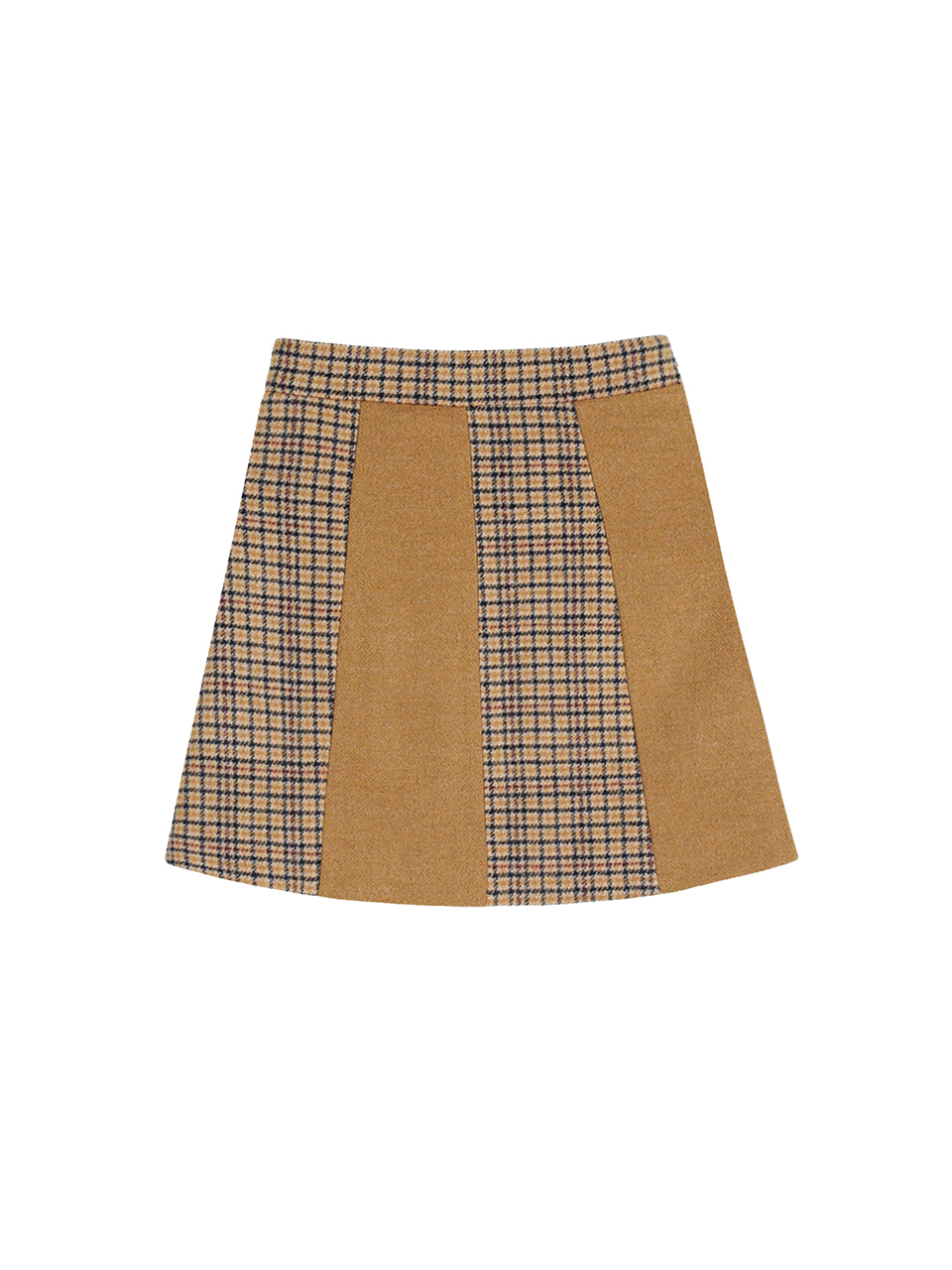 mgmg wool check skirt_brown