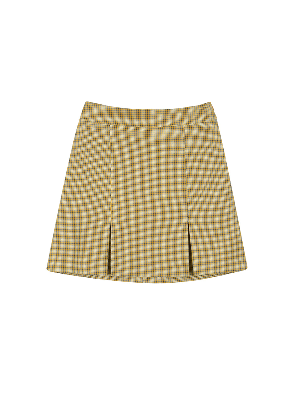 Houndtooth check skirt_yellow