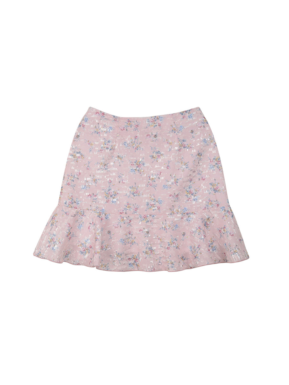 flower frill skirt_pink