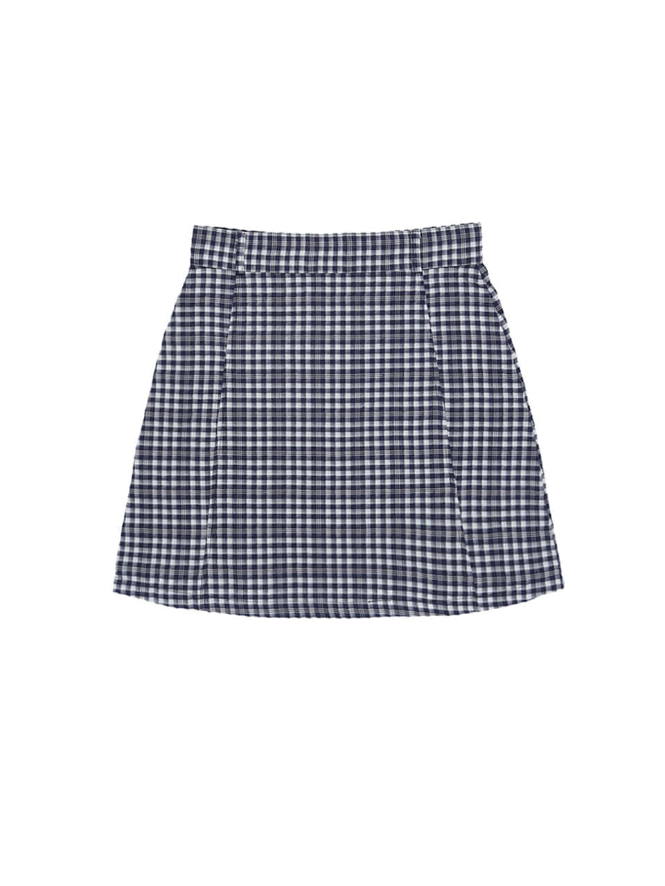 mgmg basic check skirt_navy