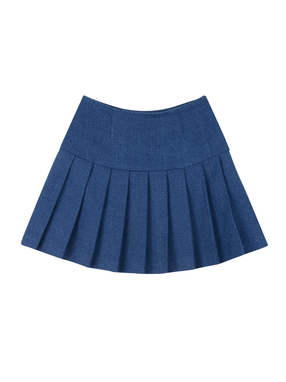 Denim pleats skirt_blue