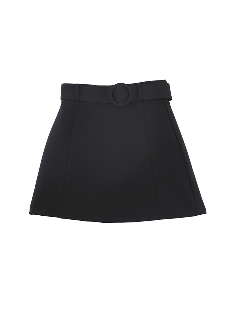 mgmg circle belt skirt_black