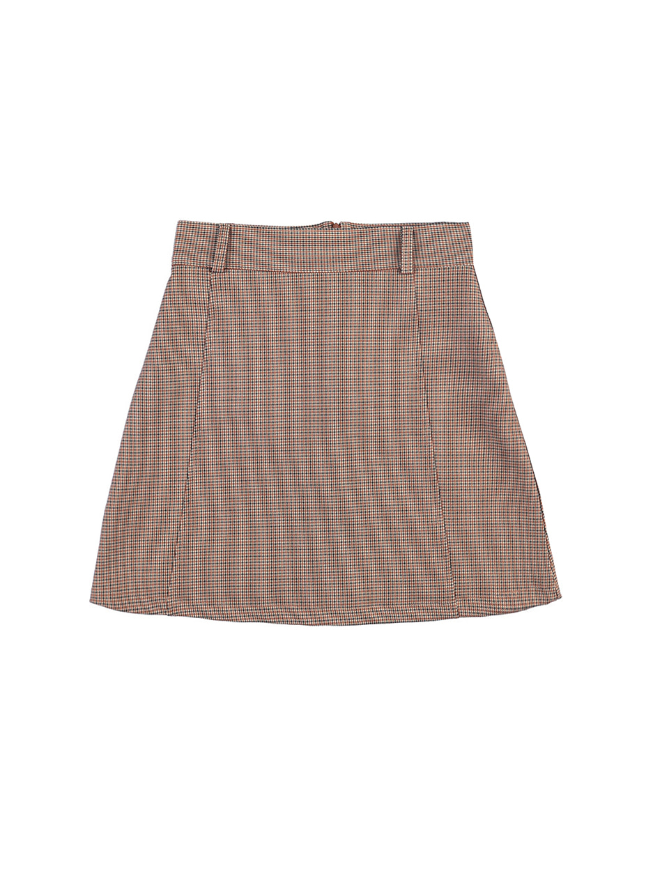 mgmg houndtooth check skirt_brown