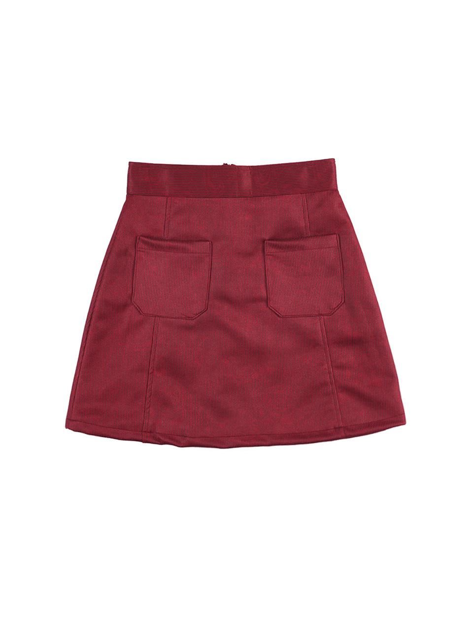 mgmg suede pocket skirt_wine