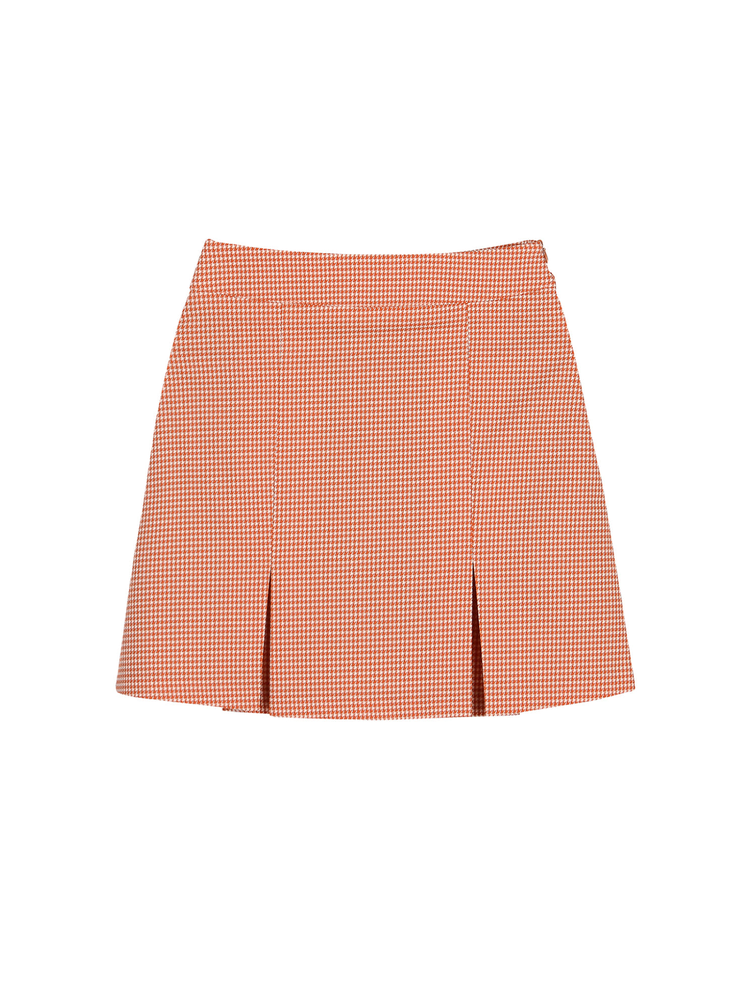 Summer houndtooth skirt_orange